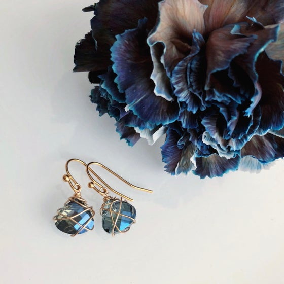 Image of Abstract Wire Briolette Earrings