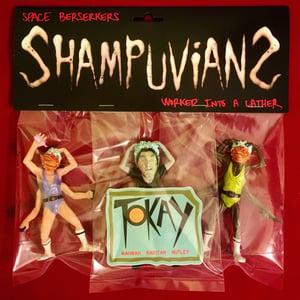 "Image of Shampuvians Halloween Set B: ""JACKAL LANTERNS"" (orange masks/green & purple tunics)"