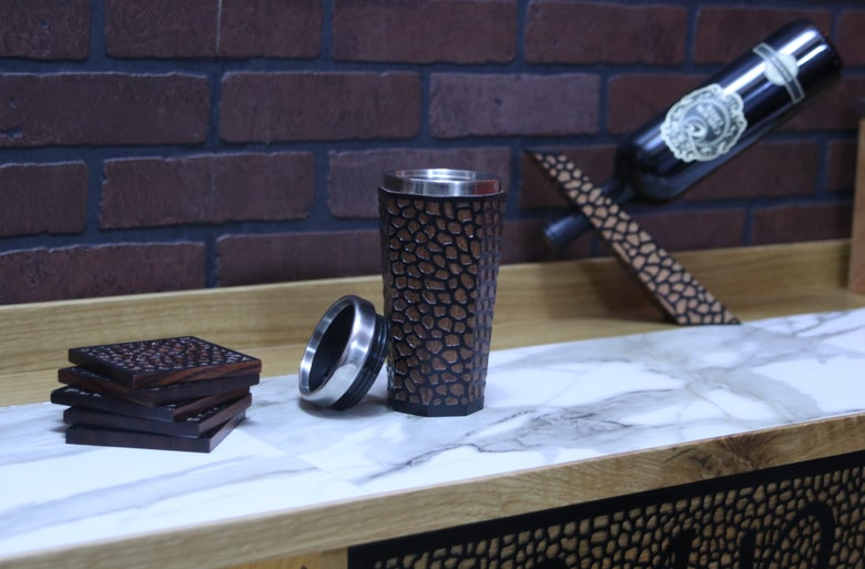 Image of Carved Coffee Tumbler