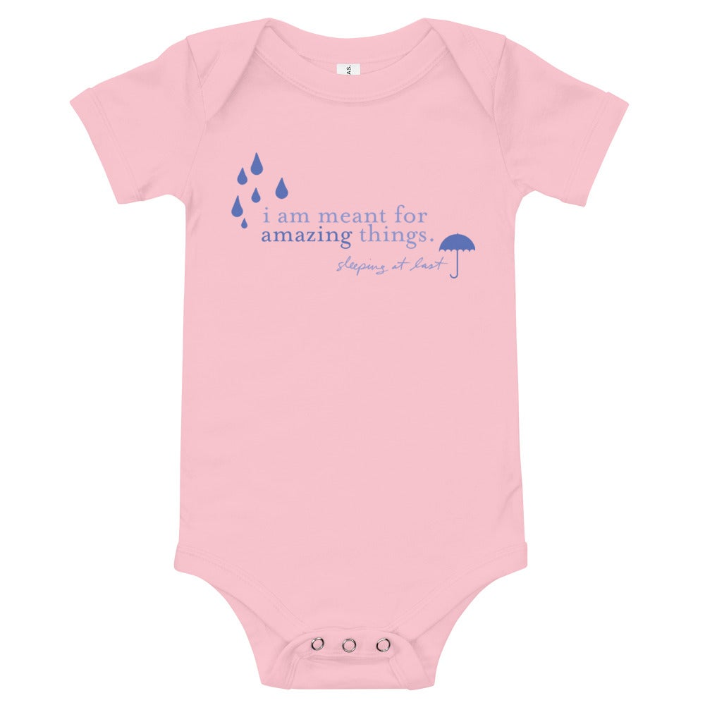 "Image of Baby One-Piece - ""I Am Meant for Amazing Things"""