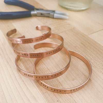 Image of Perfectly Imperfectly Stamped Bracelet