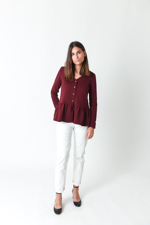 Image of BLOUSE ANGELINA - BORDEAUX