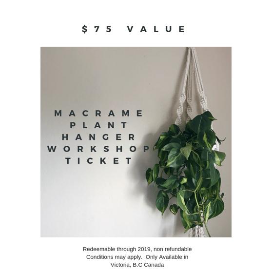 Image of Macrame Plant Hanger Workshop Ticket