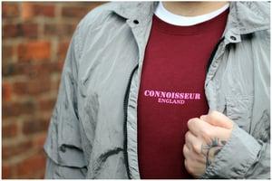 Image of SWEATSHIRT 'CONNOISSEUR ENGLAND' [BURGUNDY]