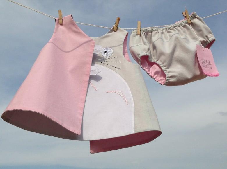 Image of Conjunto totoro para bebés,  blusa y braguita