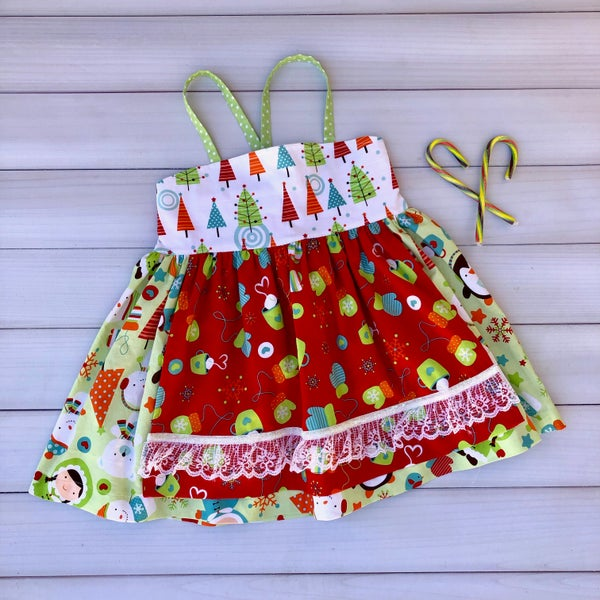 Image of Candy Cane Jane Ellie Apron Top