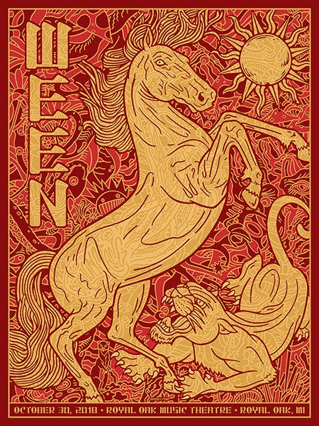 Image of Ween 2018 Royal Oak Theater Show Edition