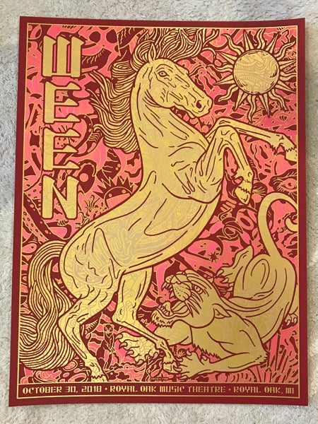 Image of Ween 2018 Royal Oak Theater Foil Variant