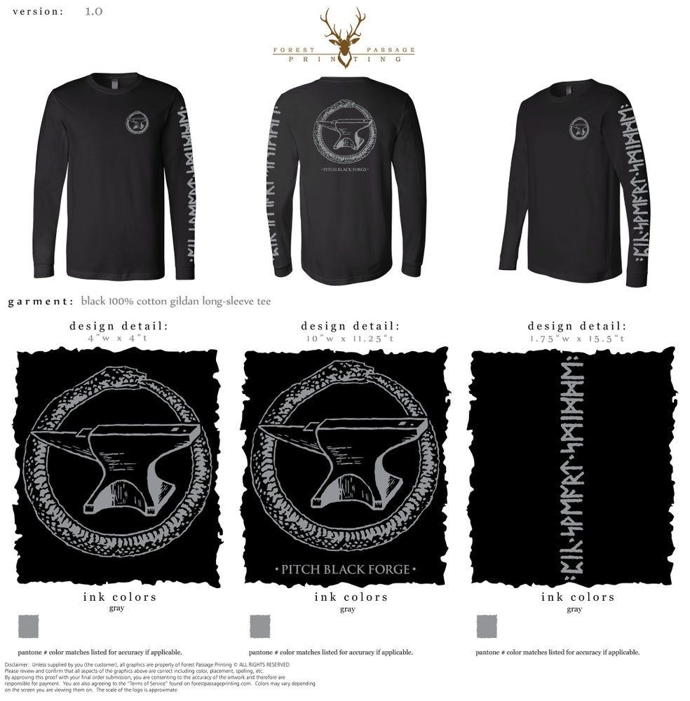 Image of Longsleeve Crew Neck T-shirt