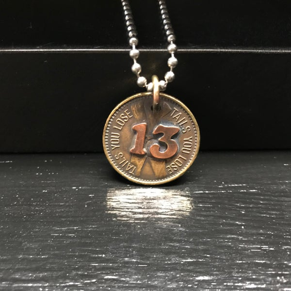 Image of Lucky 13 Nudie Coin Pendant