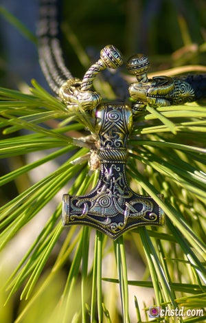 Image of Thor's Hammer : MJOLNIR + Paracord Necklace