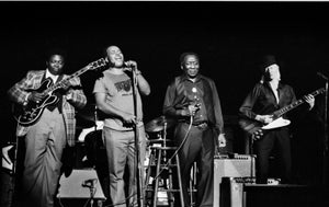 Image of B.B. King, James Cotton, Muddy Waters, & Johnny Winter (NYC, 1979) :: Limited Edition Fine Art Print