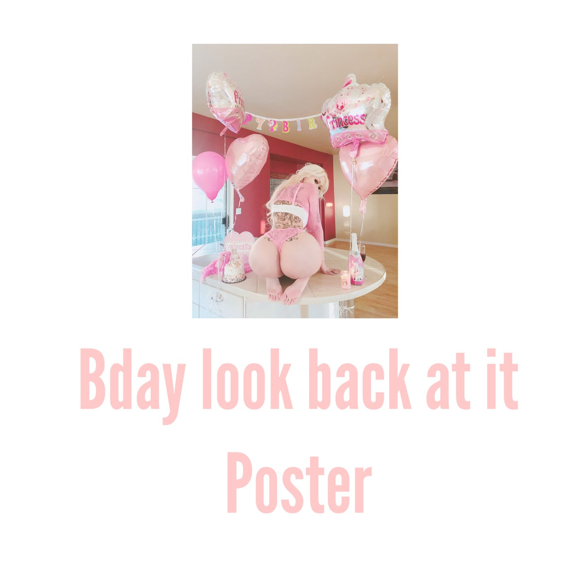 Image of Look back at it poster