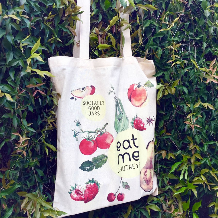 Image of fairtrade tote bag / water colour