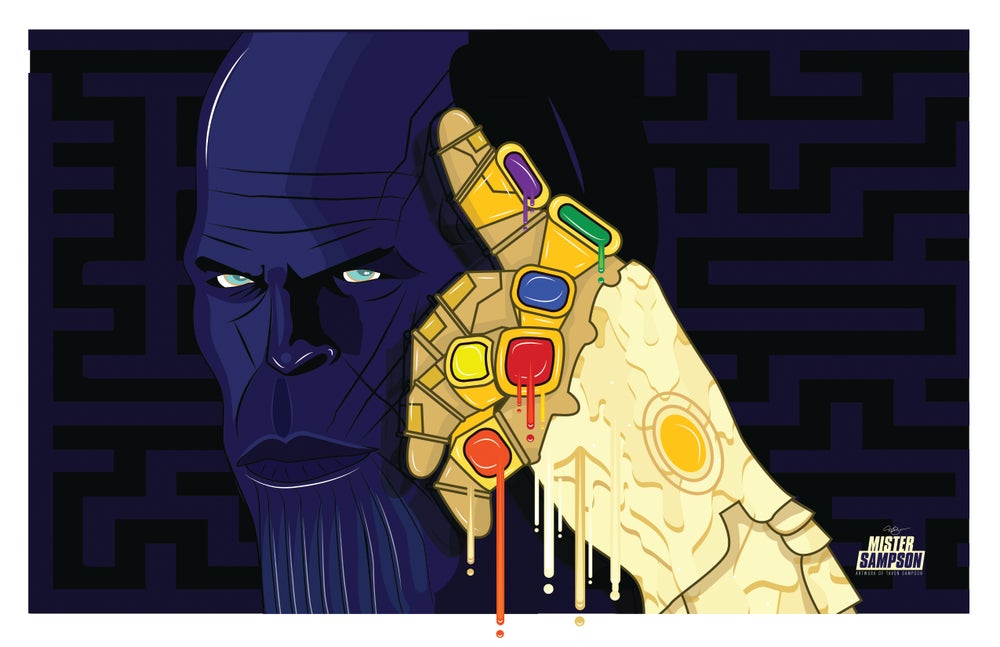 "Image of ""THANOS THE G.O.A.T."" POSTER PRINTS"