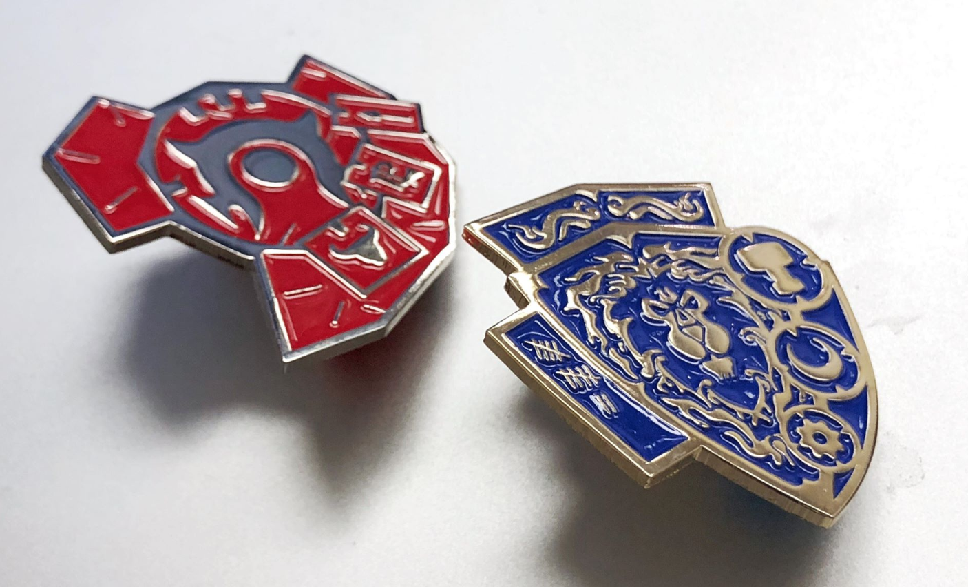 Image of Warlord's Shield Wall / Grand Marshal's Aegis Enamel Pins