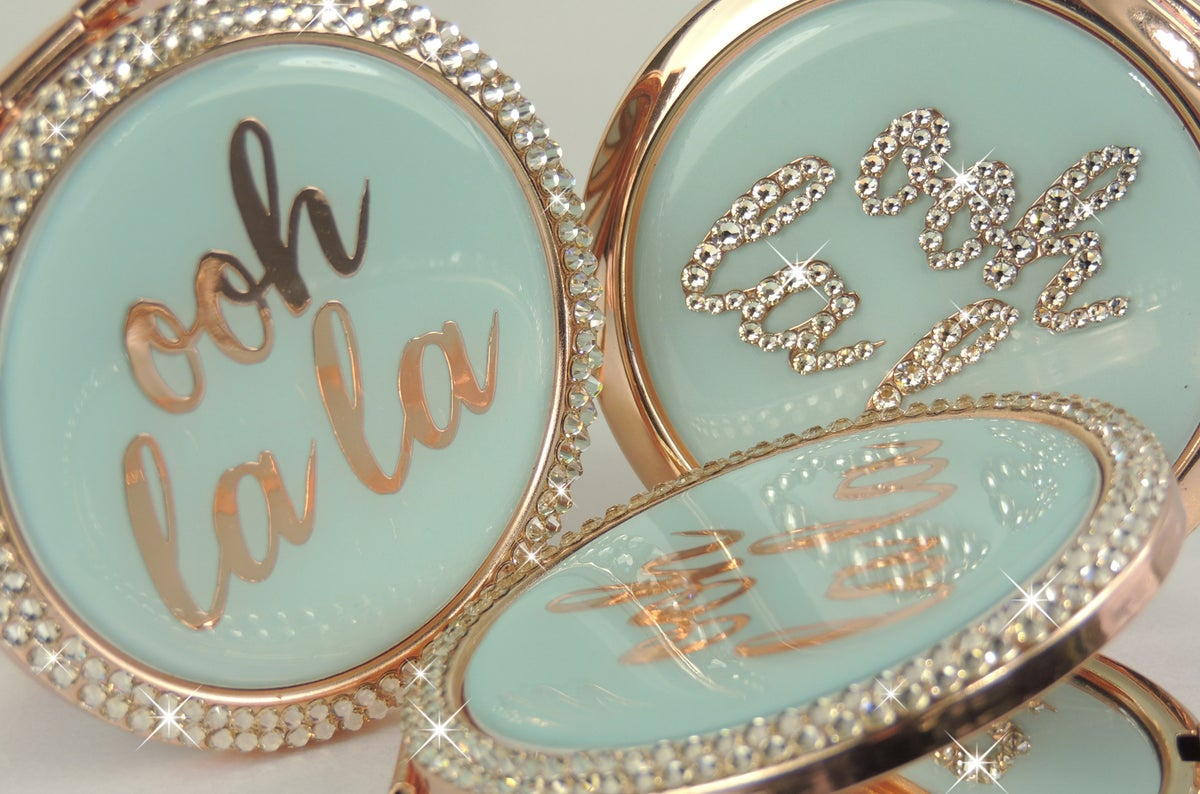 Image of Mirror Compact with crystals by Swarovski®