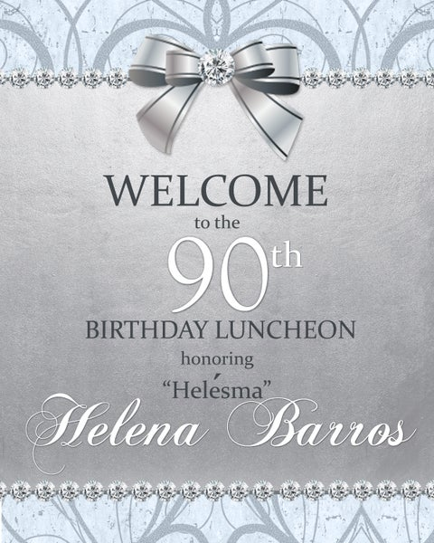 Image of 90th Birthday Welcome Sign