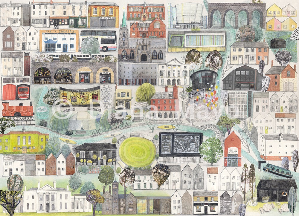 """Image of """"Chelmsford"""" Giclee Print"""
