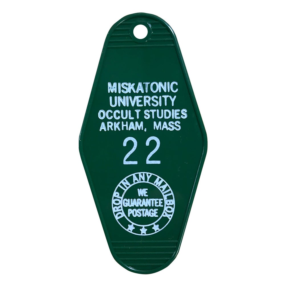Image of Miskatonic University key tag