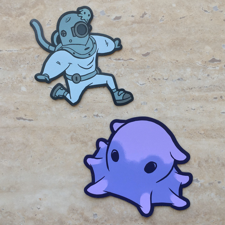 Image of Ascent Magnet Set (Chibi Diver and Dimple)