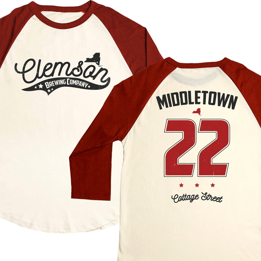 Image of Clemson Bros. Baseball Tee