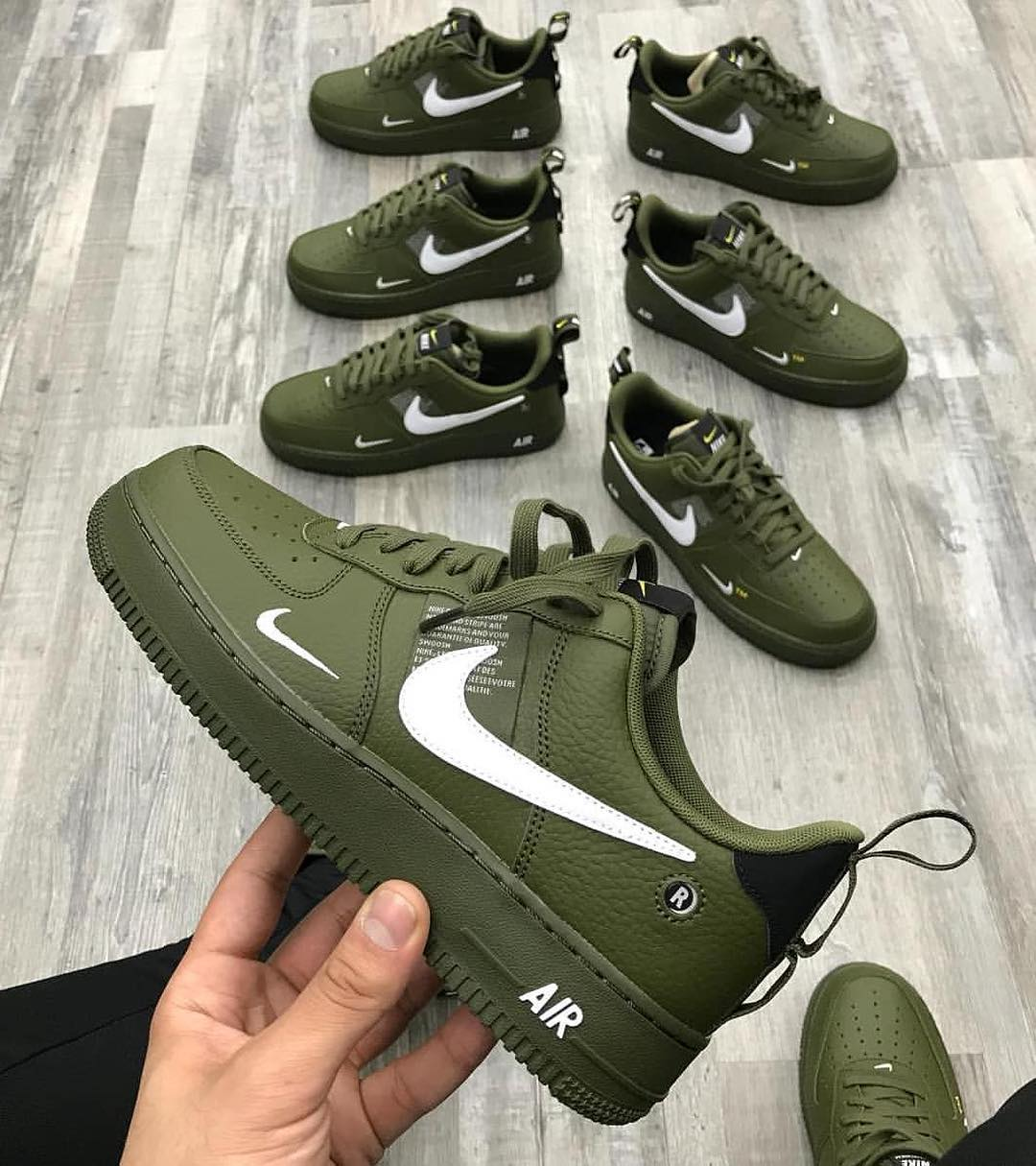 Image of Nike Air Force 1 Utility Khaki (Grade School / Juniors)
