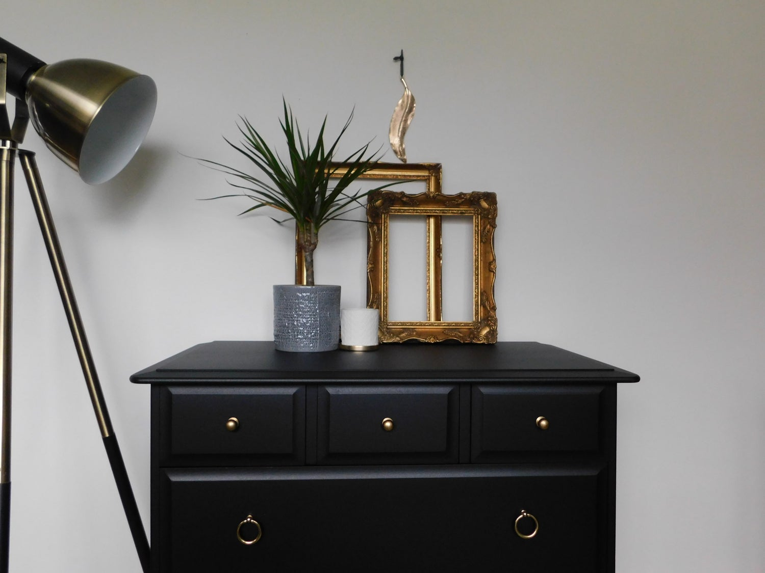Image of Beautiful black stag chest of drawers