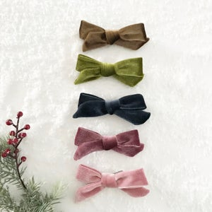 Image of Hand tied velvet bows - Winter Capsule
