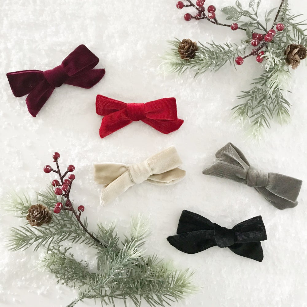 Image of Hand tied velvet bows - Christmas Capsule