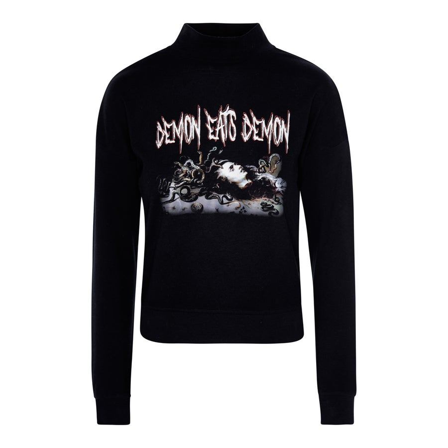 "Image of Sudadera Chica Reptil. ""DEMON EATS DEMON"""