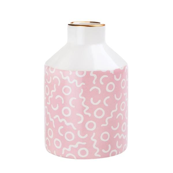 Image of Pastel pink pattern vase