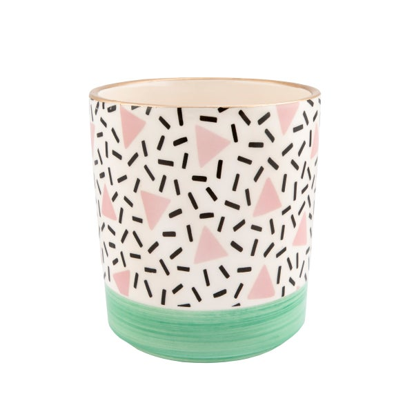 Image of Large pastel pattern planter