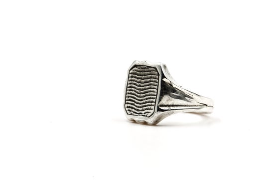 Image of Cuttlebone Inlay Ring