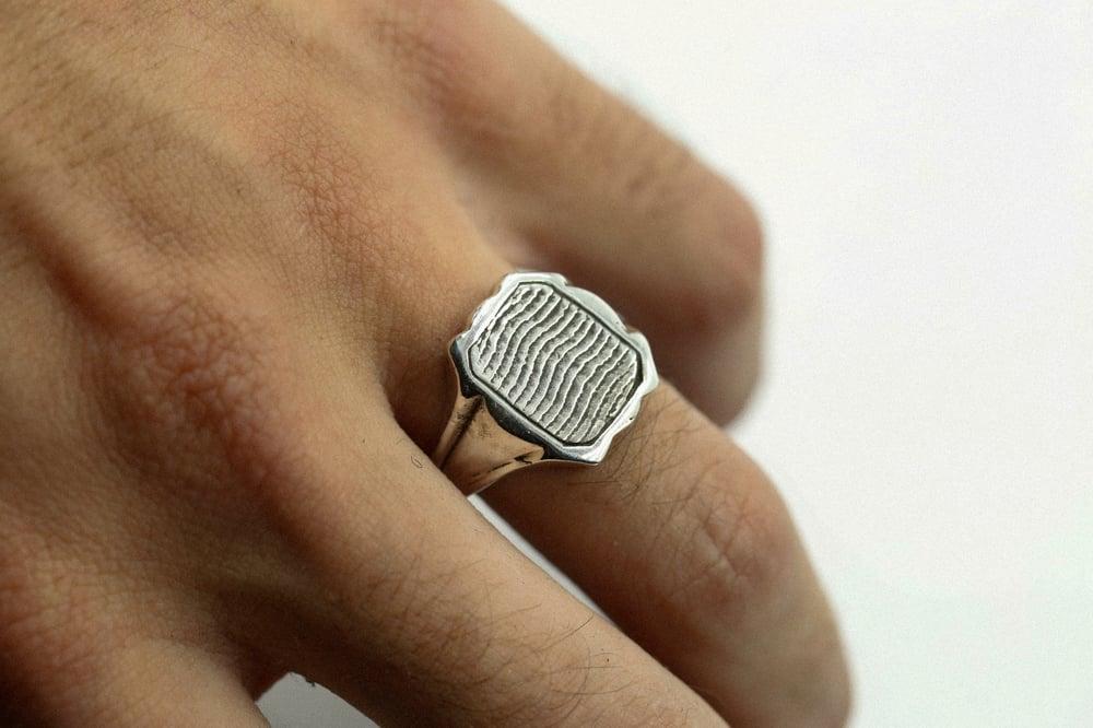 Image of Cuttlebone Inlay Ring