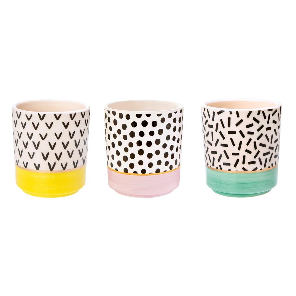 Image of Set of 3 mini pastel planters
