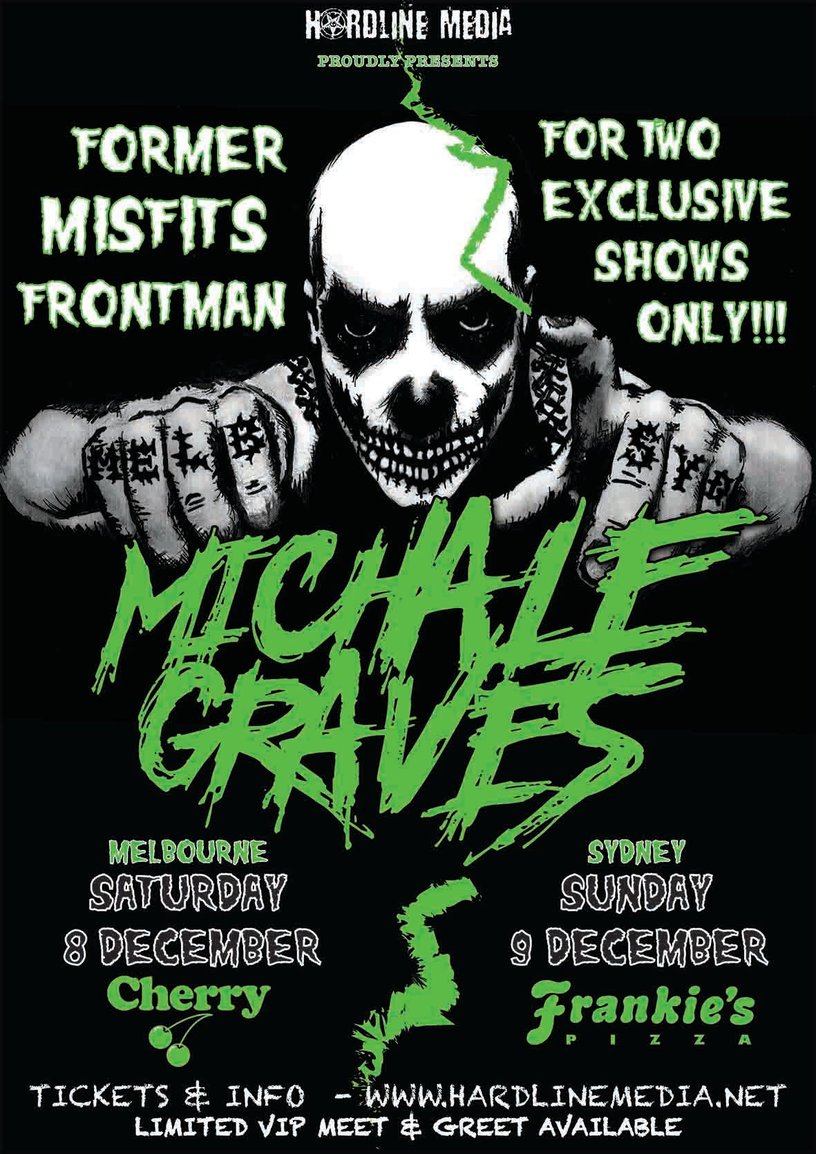 Image of VIP TICKET - MICHALE GRAVES - SYDNEY, FRANKIE'S PIZZA - SUN 9 DEC 2018