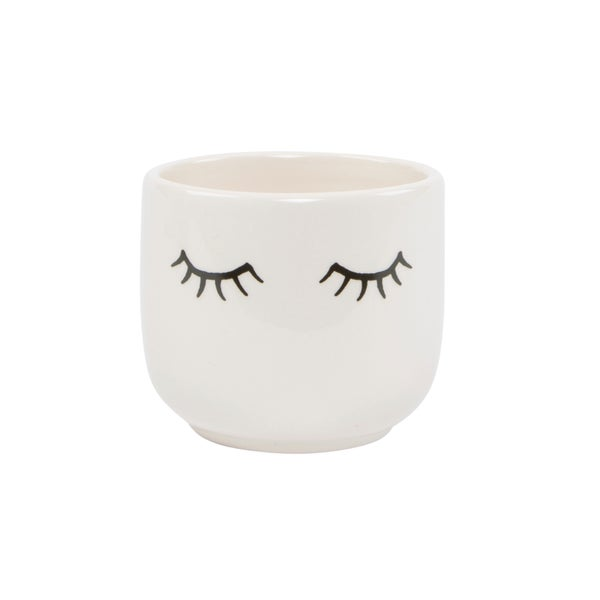 Image of Eyes shut mini pot
