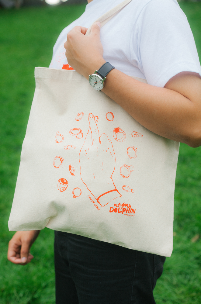 Image of Plasma Dolphin x Celeste Cares Tote Bag