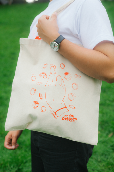 Image of Plasma Dolphin x Celeste Cares Tote Bag