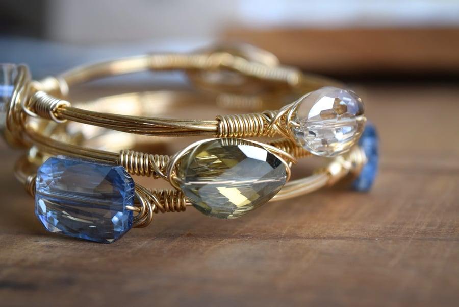 Image of Sage Crystal bangle