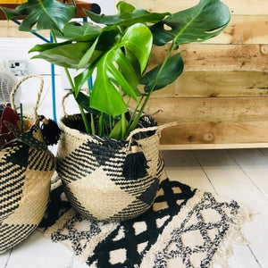 Image of Boho tribal terracotta planter with saucer