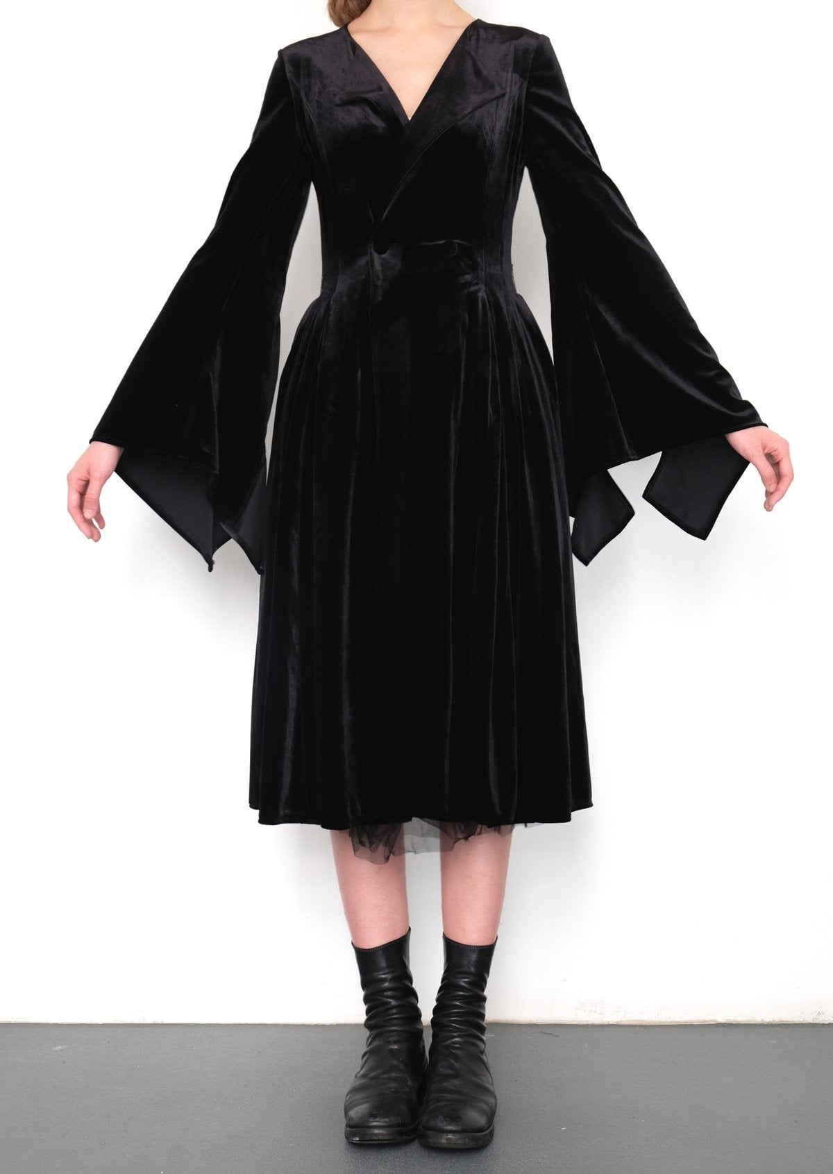Image of SS1804 - Ruffle Cuff Sleeve Dress & Coat