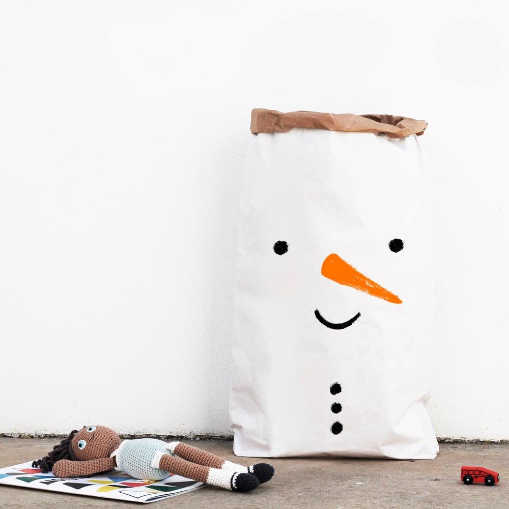 Image of XMAS PAPER BAG | SNOW MAN