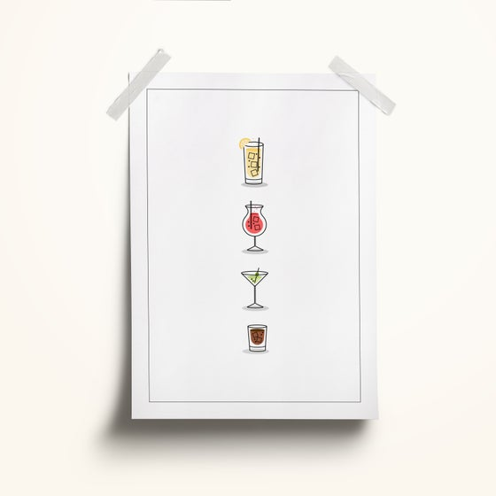 Image of Fancy a Drink? A4 Print