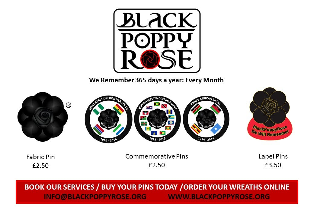 Image of BlackPoppyRose: Variety of Remembrance Pins
