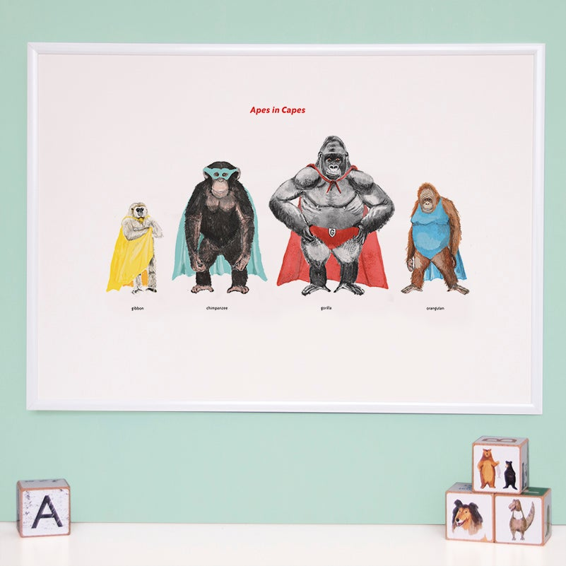 Image of Apes in Capes Print