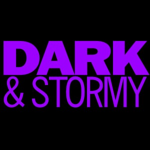 Image of Dark and Stormy purple logo shirt