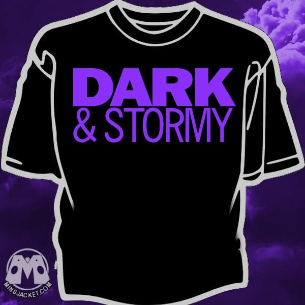 Image of Dark and Stormy purple logo shirt
