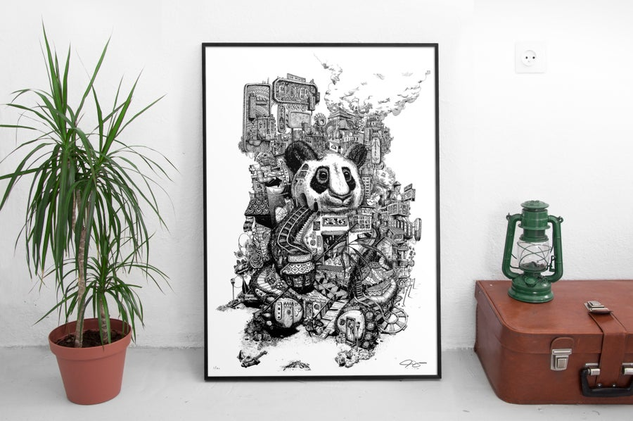 """Image of """"This city is growing on me"""" Large poster"""